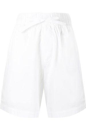 Tekla Poplin drawstring pajama shorts