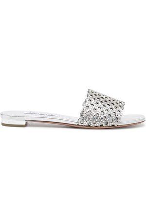 Aquazzura Crystal Candy flat sandals
