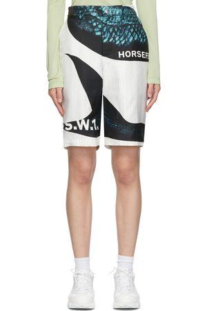 Burberry White & Mermaid Print Shorts