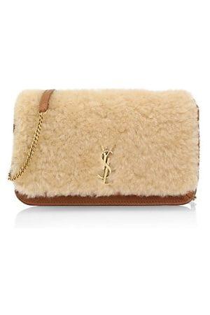 Saint Laurent Women Handbags - Monogram Shearling Phone Holder-On-Strap