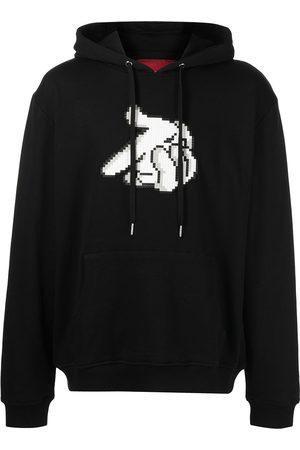 MOSTLY HEARD RARELY SEEN Bang-print cotton hoodie