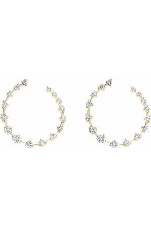 Jade Trau 18kt yellow diamond crescent hoops