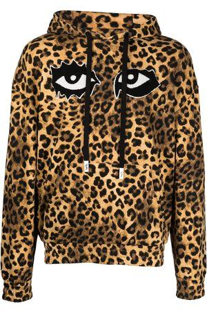 HACULLA Eye-print leopard print hoodie
