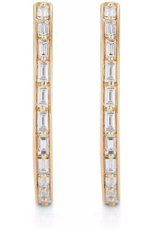 Dana Rebecca Designs 14k yellow Sadie Pearl diamond hoop earrings