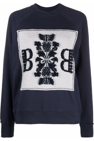 Barrie Embroidered crew neck sweatshirt