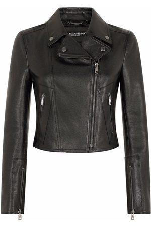 Dolce & Gabbana Women Blazers - Zip-fastening leather jacket