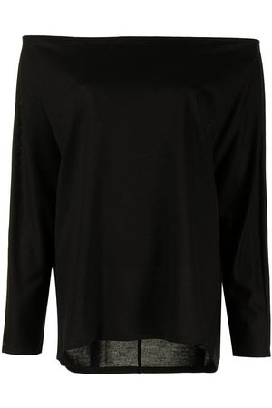 GOODIOUS Off-shoulder long-sleeved T-shirt