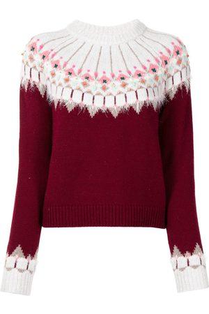 Onefifteen Intarsia-knit long-sleeve jumper