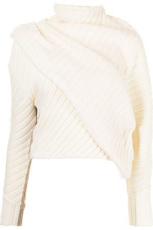 PORTS 1961 Ribbed knit layered jumper
