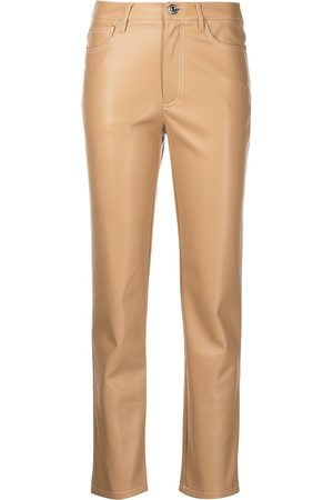 Staud Women Leather Pants - Faux-leather cigarette trousers