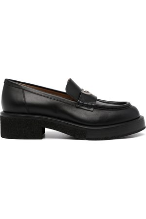 Emporio Armani Women Loafers - Low-heel leather loafers