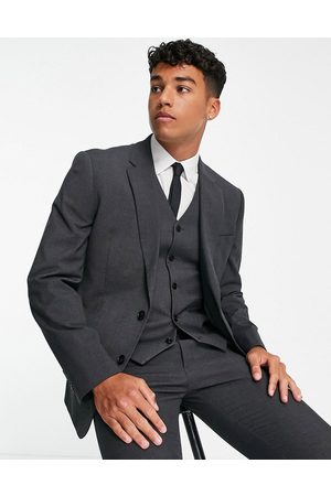ASOS Slim suit jacket in charcoal
