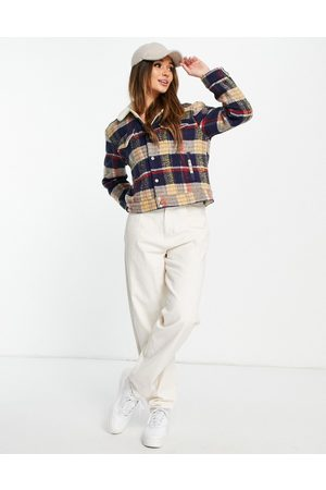 Levi's Levi's wool trucker jacket in plaid-Multi
