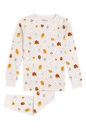 FIRSTS by petit lem Little Girl's & Girl's 2-Piece Leaf-Print Pajama Set
