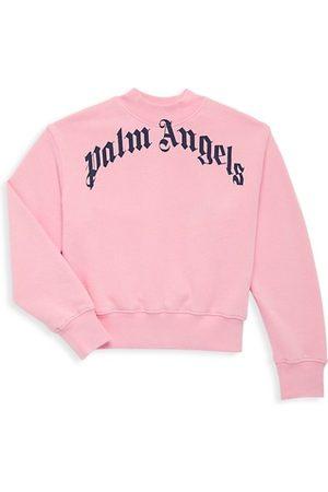 Palm Angels Girls Sweatshirts - Little Girl's & Girl's Classic Logo Crewneck Sweatshirt