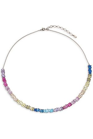 THEIA Necklaces - Hestia Gunmetal-Tone 14K Gold-Plated & Cubic Zirconia Short Necklace