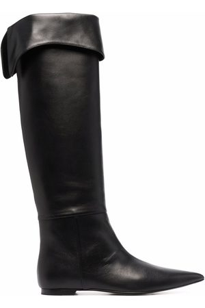 Khaite Pointed leather boots