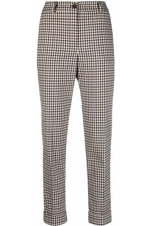 P.a.r.o.s.h. Gingham cropped trousers