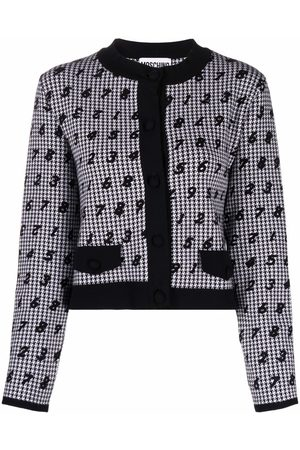 Moschino Number-print button-up cardigan