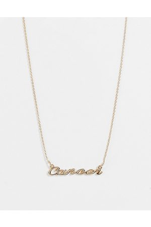 Monki Zodiac Cancer sign necklace in