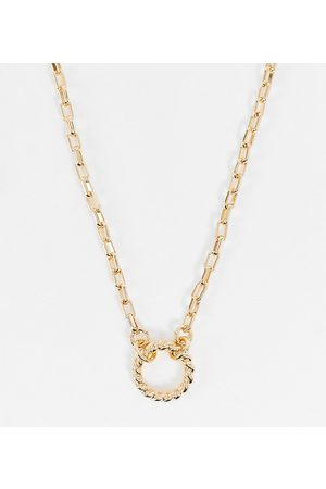 ASOS ASOS DESIGN Curve necklace with circle pendant in tone