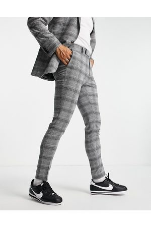 ASOS Super skinny suit trousers in check