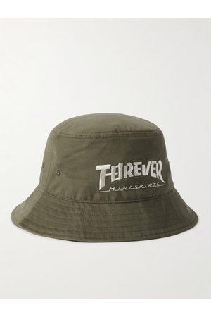KAPITAL Men Hats - Embroidered Cotton-Twill Bucket Hat