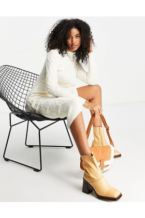 River Island Women Casual Dresses - Cable knit long line dress in cream