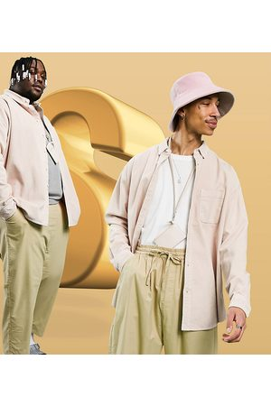 ASOS Men Casual - 90s oversized cord shirt in pastel