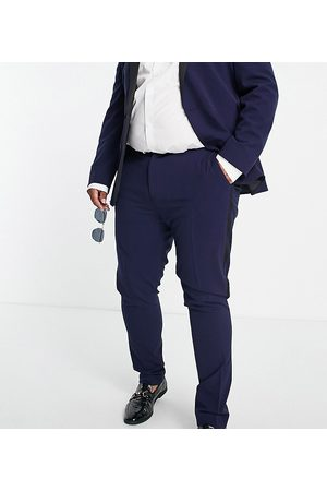 ASOS Men Skinny Pants - Super skinny tuxedo in navy suit trousers