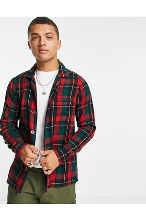 Polo Ralph Lauren Men Casual - Check luxury flannel overshirt jacket classic oversized fit in
