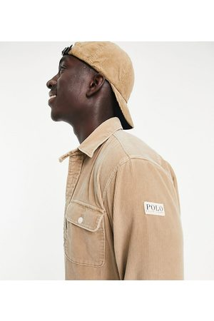Polo Ralph Lauren Men Casual - X ASOS exclusive collab cord overshirt in tan with pockts and arm tab logo-Neutral