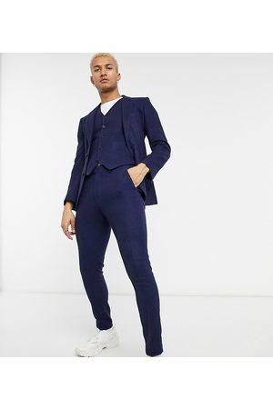 ASOS Men Formal Pants - Wedding super skinny wool mix suit trouser in navy twill