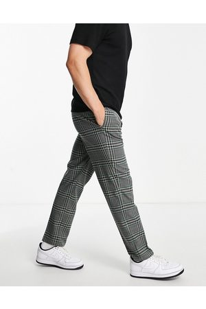 River Island Men Chinos - Checked trousers in black and