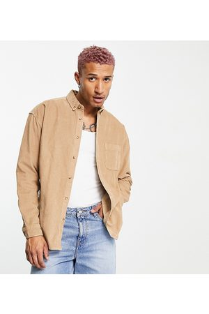 ASOS 90s oversized cord shirt in -Neutral