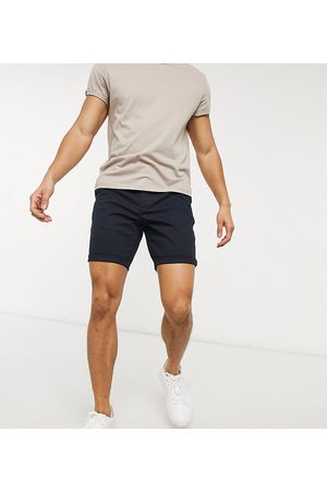 ASOS Skinny chino shorts in navy