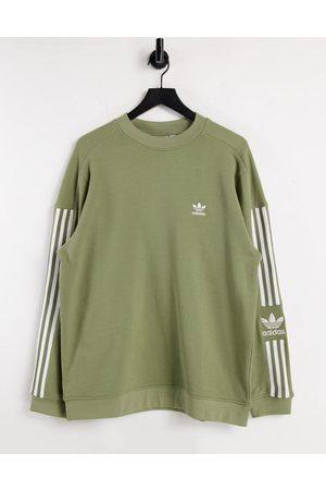 adidas Adicolor lock up sweatshirt in khaki