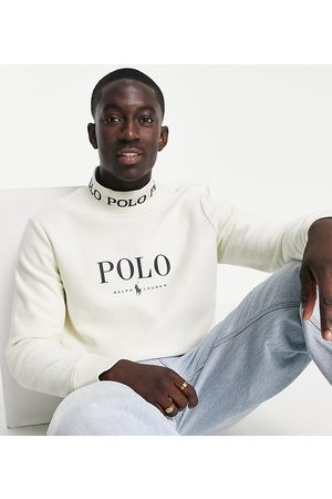 Polo Ralph Lauren X ASOS exclusive collab sweatshirt in cream with chest logo and neck logo taping