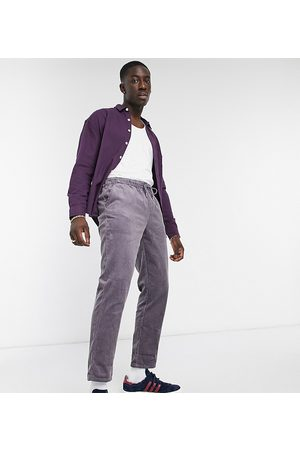 ASOS Cord slim trousers in washed with elasticated waist