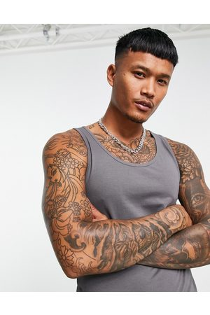 ASOS Organic muscle fit vest in washed