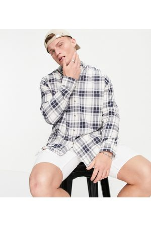 ASOS 90s oversized check shirt in and pink