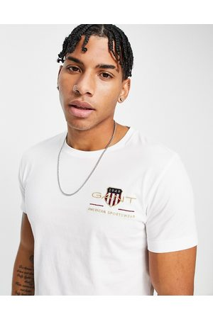 GANT Archive shield embroidered logo slim fit t-shirt in