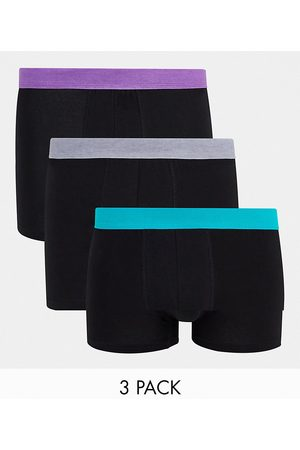 New Look 3 pack trunks with coloured waistaband in multi