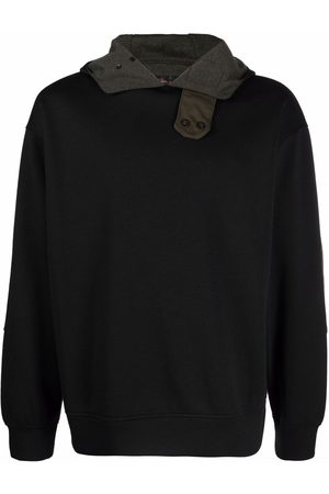 Emporio Armani Panelled pullover hoodie