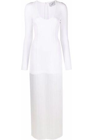 COPERNI Fringed knit long-length dress
