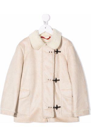 FAY KIDS Faux-shearling trimmed jacket