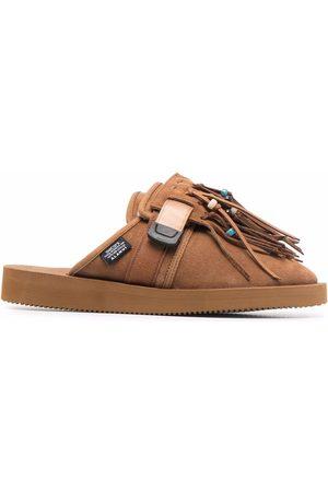 Alanui X Suicoke Zavo fringed slippers