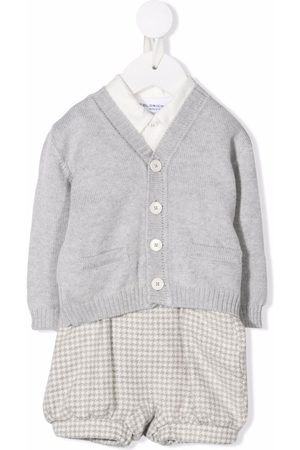 COLORICHIARI Button-up knitted tracksuit set