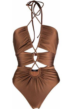 Noire Swimwear Women Swimsuits - Gathered cut-out swimsuit