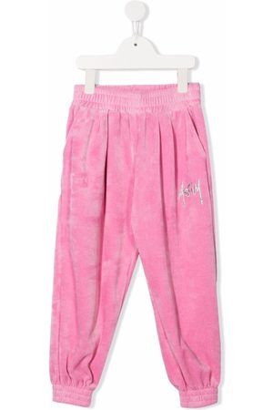 Msgm Girls Pants - Embroidered-logo track pants